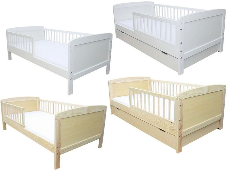 kinderbett juniorbett 140 x 70 weiss mit schublade ebay. Black Bedroom Furniture Sets. Home Design Ideas