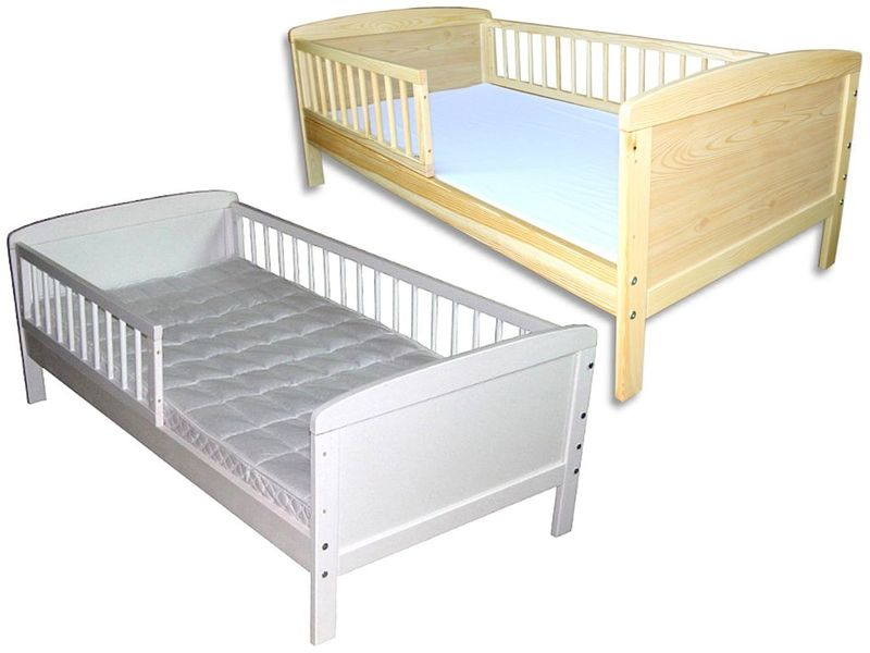 kinderbett juniorbett 160 x 70 cm incl kokosmatratze und schublade weiss ebay. Black Bedroom Furniture Sets. Home Design Ideas