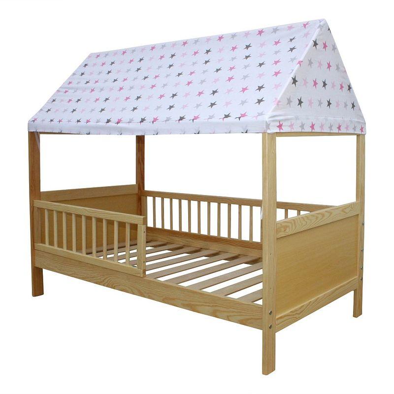Details zu Kinderbett / Juniorbett Haus 160 x 70 cm mit Dach in  verschiedenen Farben