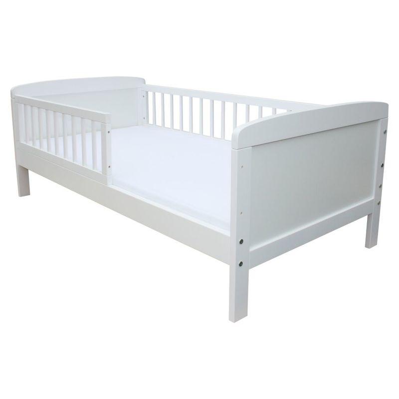 kinderbett juniorbett 160 x 70 cm schaumstoffmatratze kiefer weiss massiv ebay. Black Bedroom Furniture Sets. Home Design Ideas