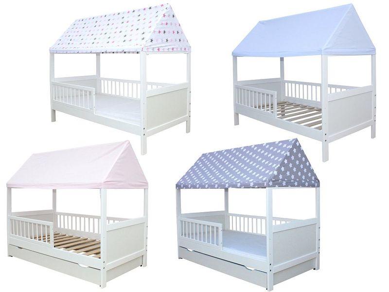 Kinderbett mit dach kinderbett homeland mit dach in 2 ausf hrungen f r junge m dchen - Abenteuerbett junge ...