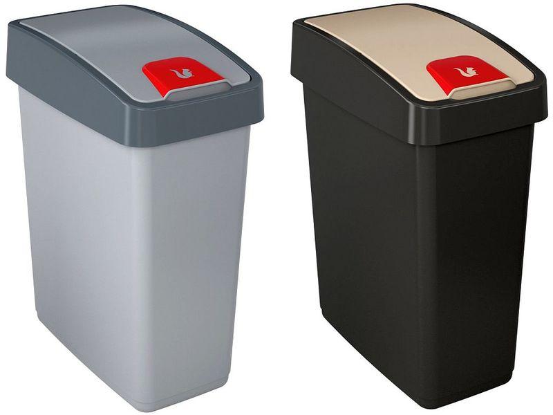 abfalleimer m lleimer magne mit schwingdeckel 10 25 und 45 liter in 2 farben ebay. Black Bedroom Furniture Sets. Home Design Ideas