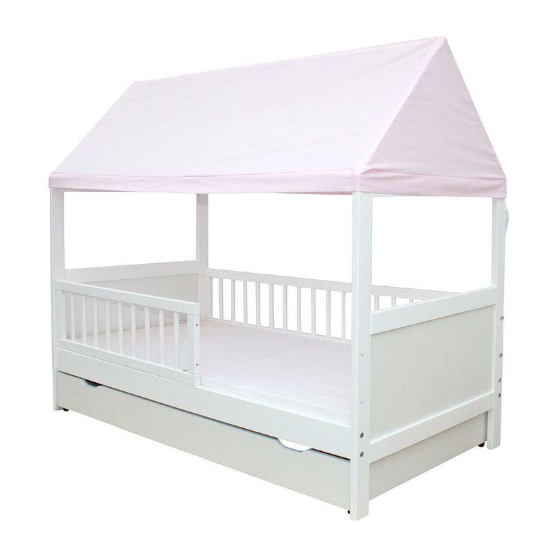 kinderbett juniorbett haus 160 x 70 cm mit dach in verschiedenen farben ebay. Black Bedroom Furniture Sets. Home Design Ideas