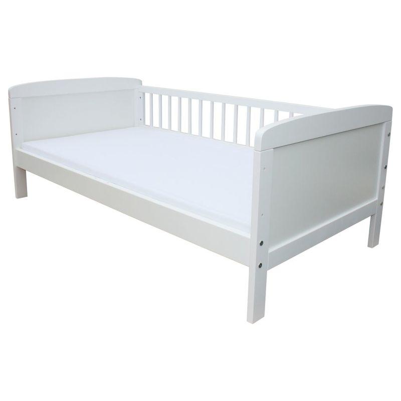 kinderbett juniorbett 140 x 70 cm oder 160 x 70 cm in 2 farben ebay. Black Bedroom Furniture Sets. Home Design Ideas