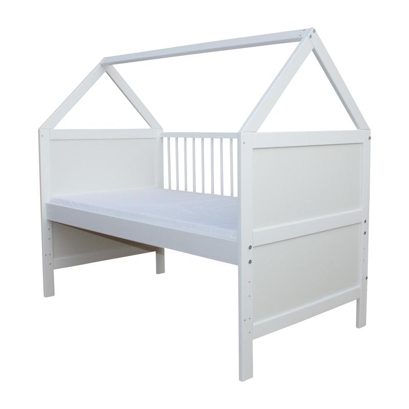 Juniorbett umbaubar 140x70 Weiß Babybett  Kinderbett Grau nr 17