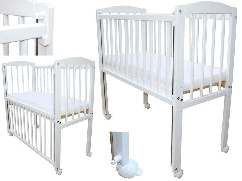 beistellbett kinderbett 90x40 cm mit matratze und r dern 3 stufen weiss ebay. Black Bedroom Furniture Sets. Home Design Ideas