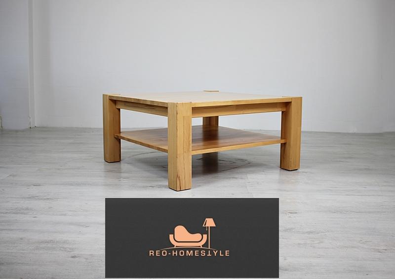 Designer Eiche Massiv Tisch Beistelltisch Wohnzimmer Holz ...