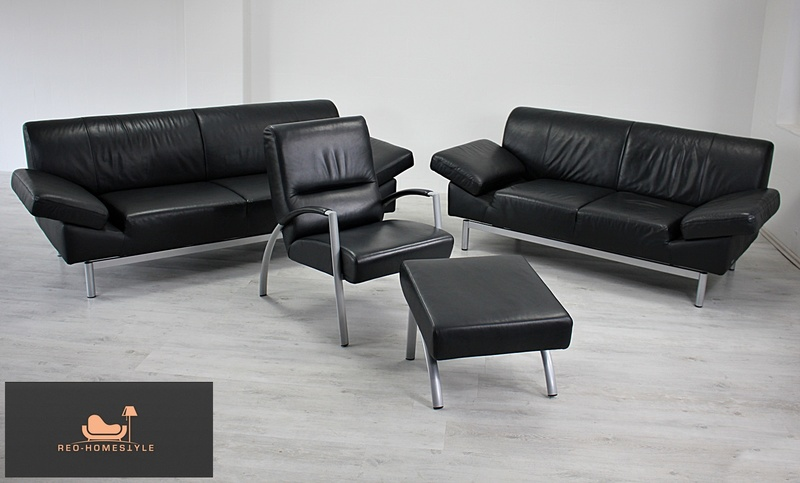 Affordable Free Laauser Er Er Sessel Hocker Sofa Couch Leder Schwarz Design  With Laauser Sofa With Sofa Leder Schwarz