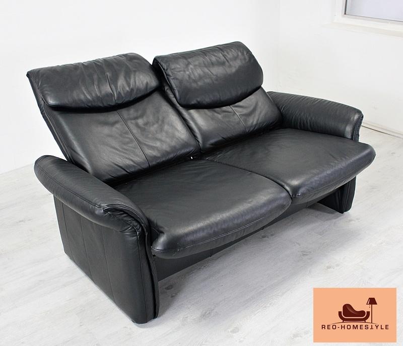 Euri Designer Leder Sofa 2 Er 3 Er Sessel Funktion Couch Schwarz Echtleder Top Ebay