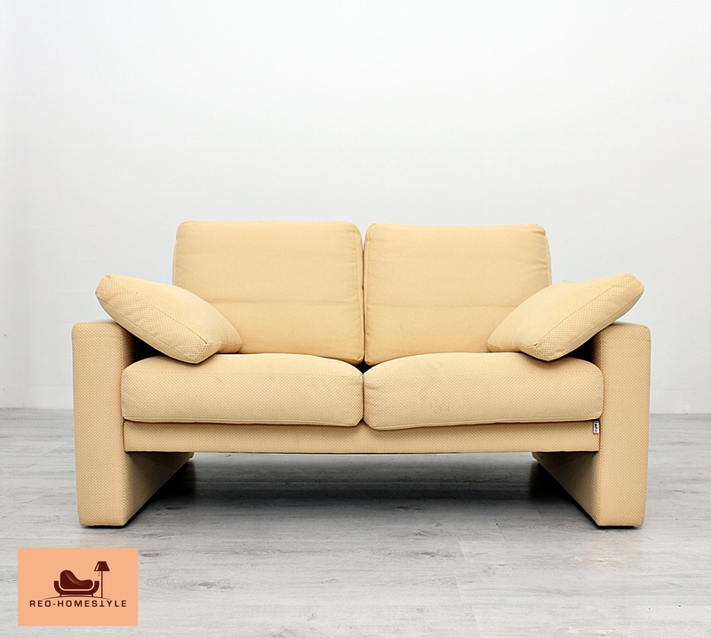 erpo sofa zweisitzer designer klassiker beige couche sessel stoff ebay. Black Bedroom Furniture Sets. Home Design Ideas