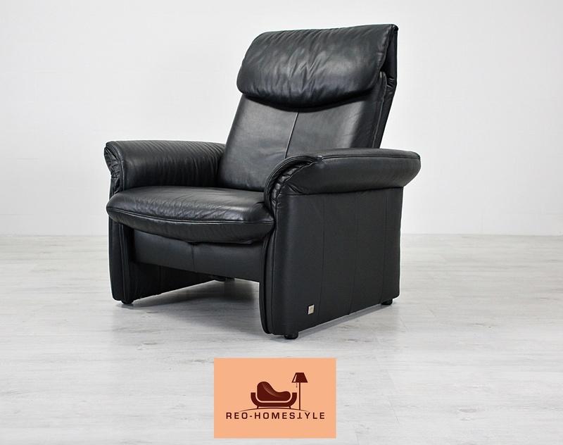 euri designer leder sofa 2 er 3 er sessel funktion couch schwarz echtleder top ebay. Black Bedroom Furniture Sets. Home Design Ideas